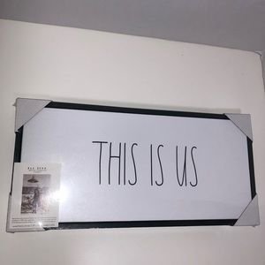 Rae Dunn This Is Us Black Framed Canvas Sign